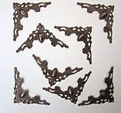 Komponenty - Kovové rohy mosadzné- sada 6ks + 2 zadarmo - 7614782_