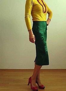 Sukne - puzdrová sukňa v sviežej zelenej farbe - 7613474_