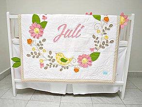 Textil - Kvetinková dievčenská 3D deka - 7614864_