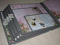 "Papiernictvo - Svadobný fotoalbum veľký ""Butterflies"" - 7612928_"