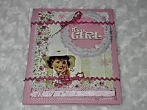 Papiernictvo - Leporelo minialbum pre dievčatko - 7614618_