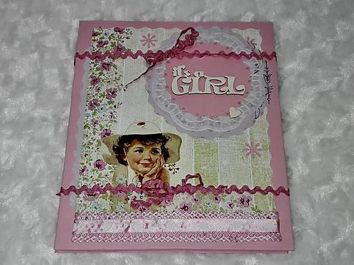 Leporelo minialbum pre dievčatko