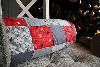 Textil - Detská deka červená so sivou 85x118 - 7614683_