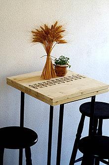 Nábytok - Vyšívaný stôl: folklórna štóla - 7613372_