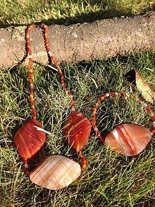 Sady šperkov - Sada šperkov náhrdelník a náramok z karneolu - 7614407_