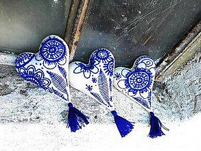 Dekorácie - Vyšívané modrou - 7613239_