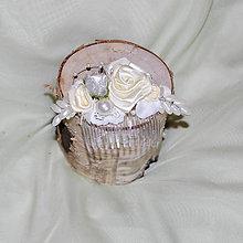 Ozdoby do vlasov - Hrebienok do vlasov krémový s perličkami - 7615523_