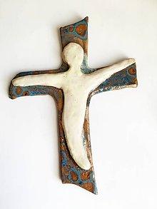 Dekorácie - kríž s postavou II.variant - 7615501_