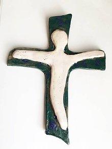 Dekorácie - kríž s postavou III. variant - 7615526_