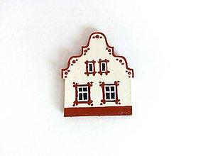 Magnetky - Maľovaný domček-červený - 7615160_