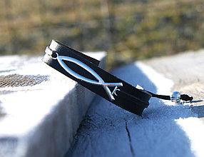 Šperky - Kožený ochranný náramok BELIEVE II - 7616406_