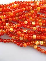 Minerály - achát oranžovočervený korálky 8mm - 7615575_