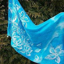 Šály - Modrá. 45 x 160 cm. - 7615122_