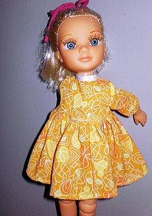 Bábiky - Pomarančové šaty pre Adelku - 7616026_