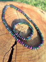 Sady šperkov - Rubín v zoisite sada - náhrdelník a náramok - 7617487_