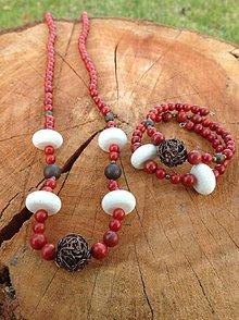 Sady šperkov - Koral natúr - sada šperkov - 7617453_