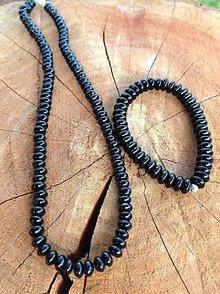 Sady šperkov - Ónyx - sada náhrdelník a náramok - 7617486_