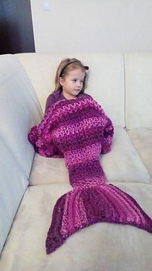 Textil - Háčkovaná deka-morská panna alebo ryba - 7618052_