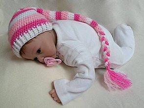 Detské čiapky - Ružová čiapočka - 7619892_