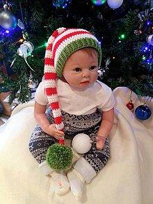 Detské čiapky - Vianočná čiapka - 7619946_