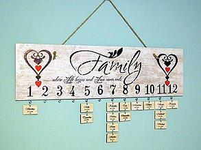 Dekorácie - rodinný kalendár VIII - 7620947_