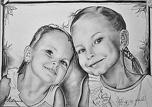 Kresby - potrét-sestričky A2 - 7620779_