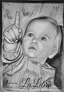 Obrazy - portrét-malinké zlatíčko A3 - 7620807_