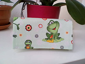 Peňaženky - Peňaženka...žabky - 7619162_