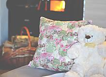 Úžitkový textil - Romantický vankúš - 7620267_