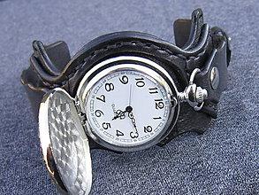Náramky - Harry Potter vreckové hodinky, kožený náramok - 7619584_
