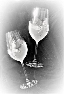 Darčeky pre svadobčanov - Svadobné  poháre Motýliky - 7621027_