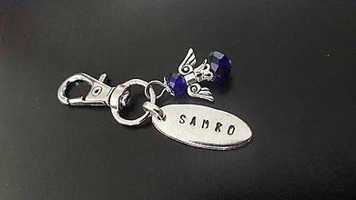 Kľúčenky - kľúčenka personalizované meno s anjelom - 7619671_