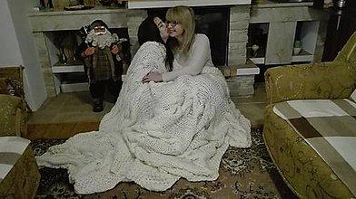 Úžitkový textil - Pletená deka pre milovaných - 7620653_