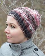 Čiapky - Zimná pletená čiapka - dámska ...