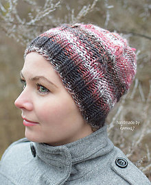 Čiapky - Zimná pletená čiapka - dámska . 4d2bc39ecdd