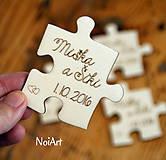 Magnetky pre svadobných hostí puzzle