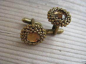 Šperky - Manžetové gombíky - Brown/Antique Bronze - 7622844_
