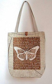 Veľké tašky - Veľká taška s motýľom - 7622889_
