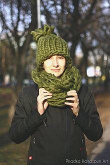 Návody a literatúra - DARČEK ZDARMA Návod na pletenie:Extra hrubý pletený nákrčník z chunky merino vlny - 7621211_