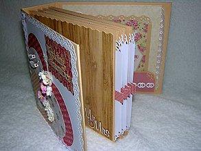 """Papiernictvo - Svadobný fotoalbum """"Marhuľový sen"""" - 7621914_"""