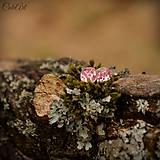 Ružové kvety - napichovacie náušnice