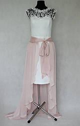 Sukne - Šifónová sukňa high-low na zaviazanie rôzne farby - 7623101_