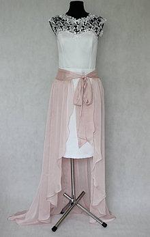 Sukne - Šifónová sukňa high-low na zaviazanie rôzne farby - 7623101  1d076a79347