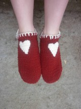 Obuv - vo vlne,červené papuče - 7621484_
