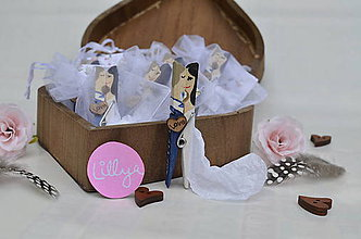 Darčeky pre svadobčanov - Svadobné magnetky pre svadobčanov, farebné miniatúrky 40ks - 7624117_