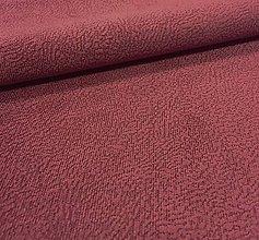 Textil - vodeodolná látka Flori (Flori 6 - bordová) - 7622942_
