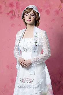 Iné oblečenie - maľovaná svadobná zástera - 7625682_