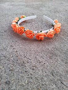 Ozdoby do vlasov - Čelenka do vlasov v oranžovej farbe - 7627317_