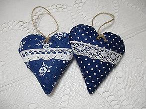 Darčeky pre svadobčanov - Svadobné srdiečka,modré - 7627540_