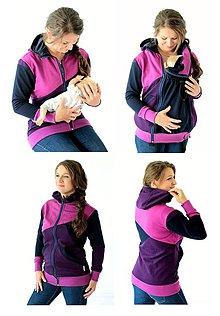 Mikiny - 4v1 MIKINA - dojčiacia, tehotenská, nosiacia a normal - 7624719_